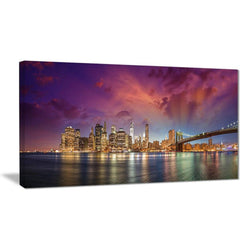 Canvas Print - Manhattan Skyline Cityscape Canvas Print | PT7580