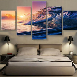 Canvas Print - Ocean Waves View Canvas Print | 5 Panel