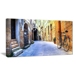 Canvas Print - Pictorial Street Of Old Italy Canvas Art Print | PT7354
