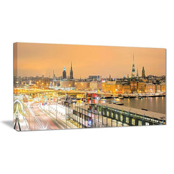 Canvas Print - Stockholm Sweden Panorama Cityscape Canvas Print | PT7224