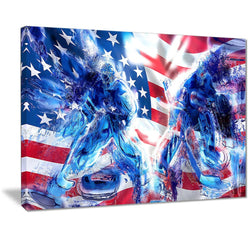 Canvas Print - Team USA Hockey Goalie Canvas Print | PT2514