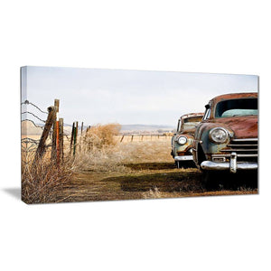 vintage cars canvas art print pt6858