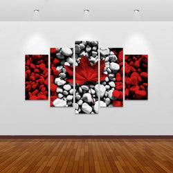 Canada Rocks! Multi Panel Canvas Art Print | 5 Piece
