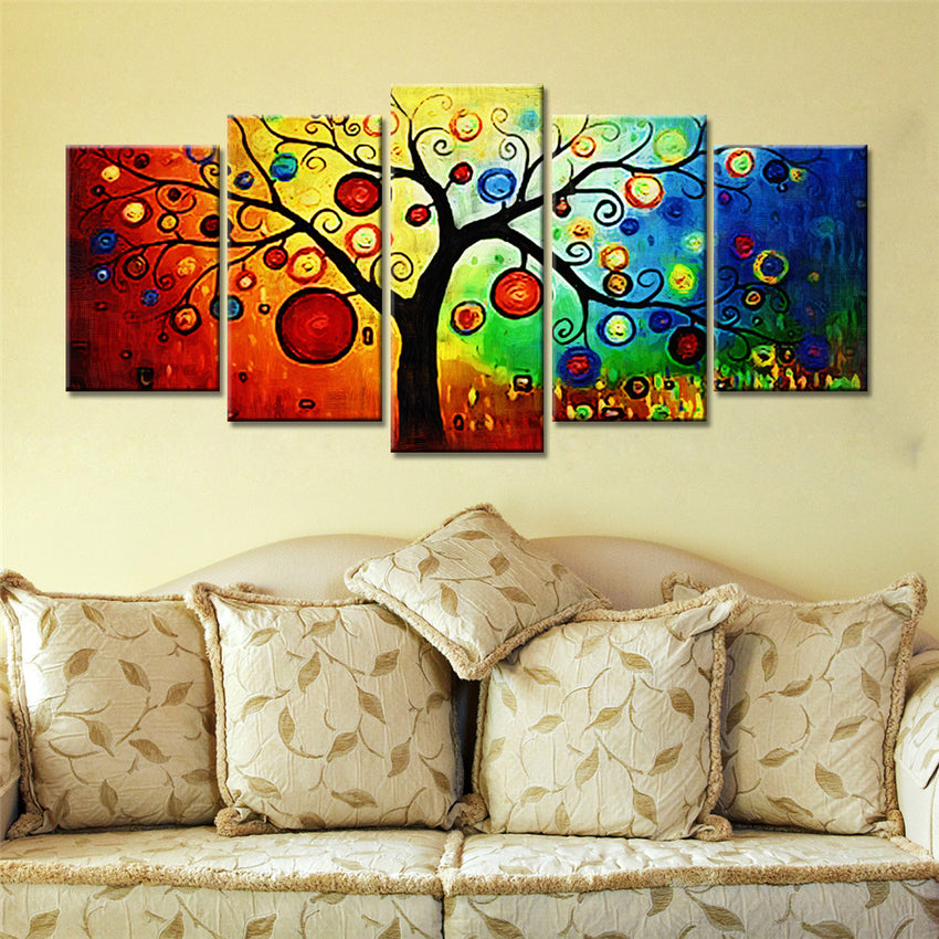 Abstract Tree | Canvas Art Print| 5 piece