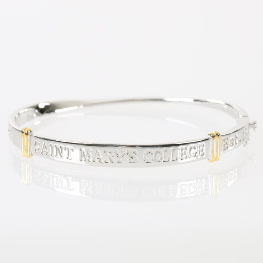 Saint Mary's College Sterling Silver Bangle