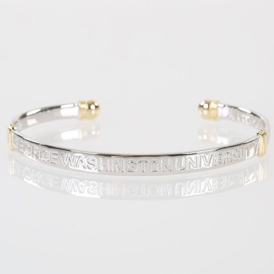 George Washington University Sterling Silver Cuff