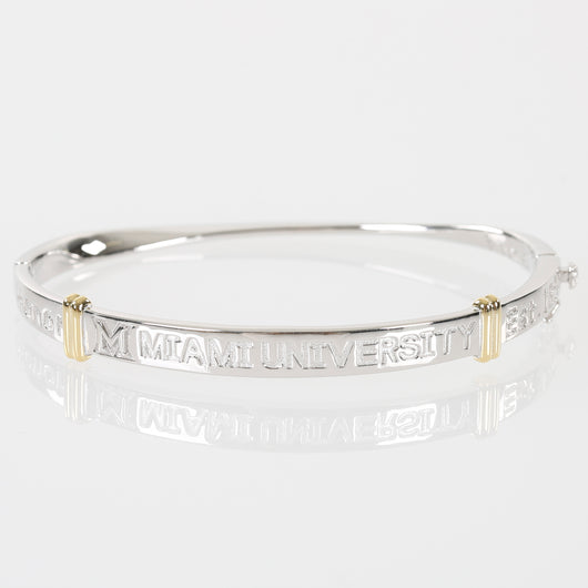 Miami University Sterling Silver Bangle