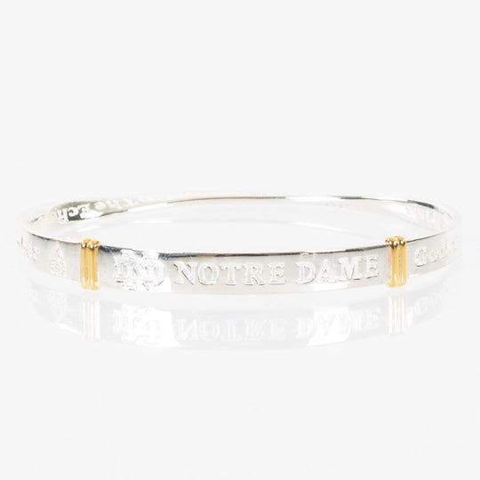 University Of Notre Dame Sterling Silver Bangle