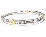 Fairfield University Silver Plated Bangle