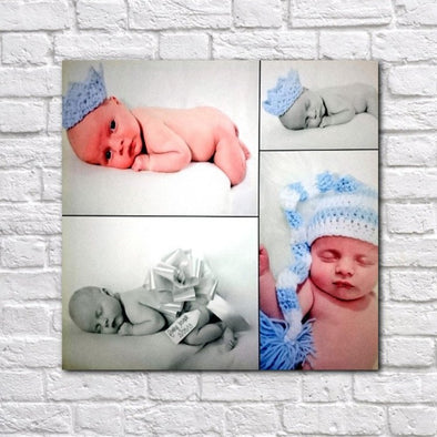 Personalised Four Photo Collage Canvas