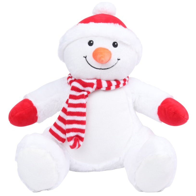 Personalised Large Snowman Christmas Teddy Bear