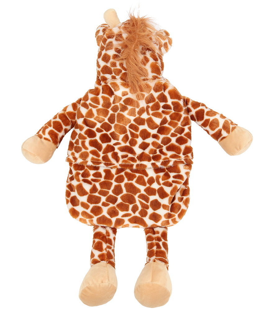 Personalised Brown Giraffe Hot Water Bottle Cover