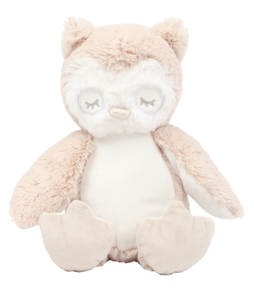 Personalised Light Brown Owl Teddy Bear