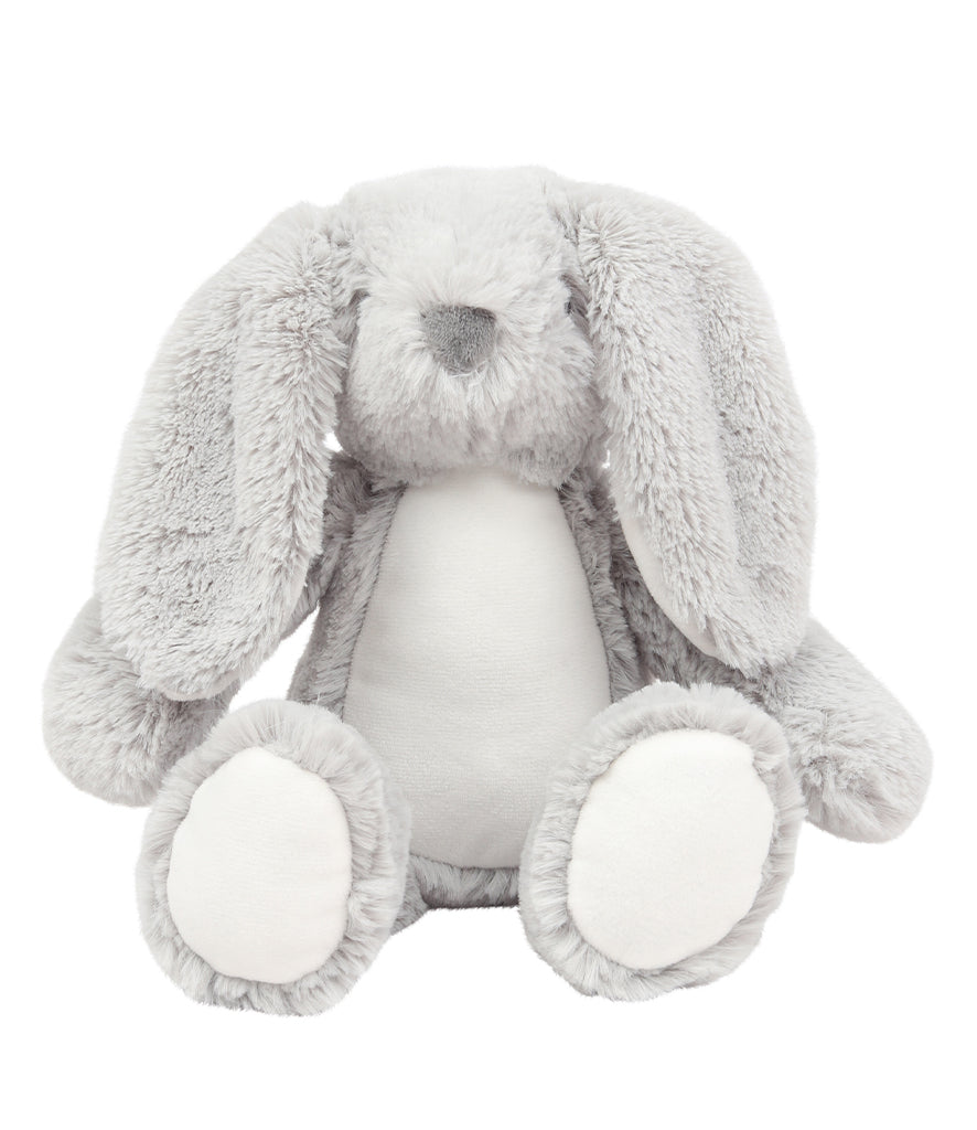 Personalised Grey Bunny Rabbit Floppy Ears Teddy Bear