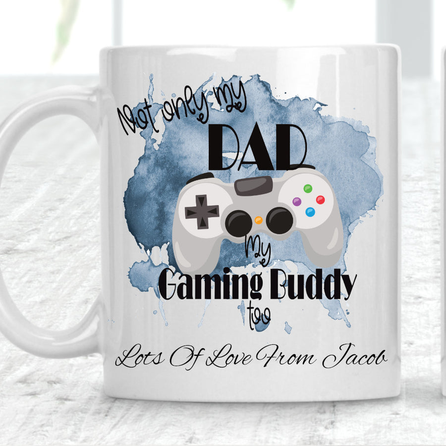 Not Only My Dad My Gaming Buddy Too Playstation Style Cup Mug