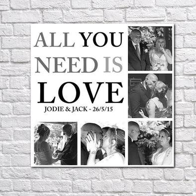 Personalised Love & Family Collage Canvas