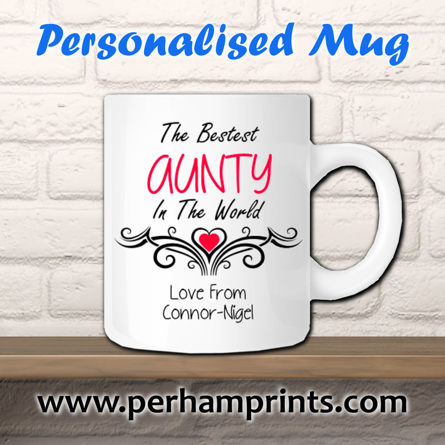 Personalised Aunty Cup - Personalised Gift