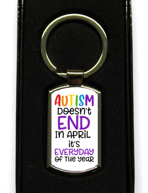 Autism Doesn't End In April Keyring