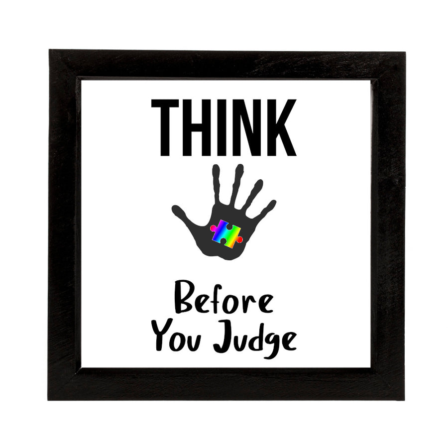 Autism Think Before You Speak Deep Box Frame