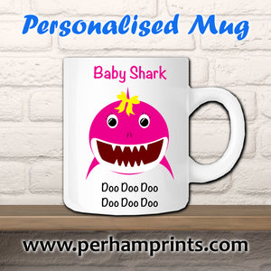 Girl Baby Shark Do Do Do Do Do Do Custom Cup