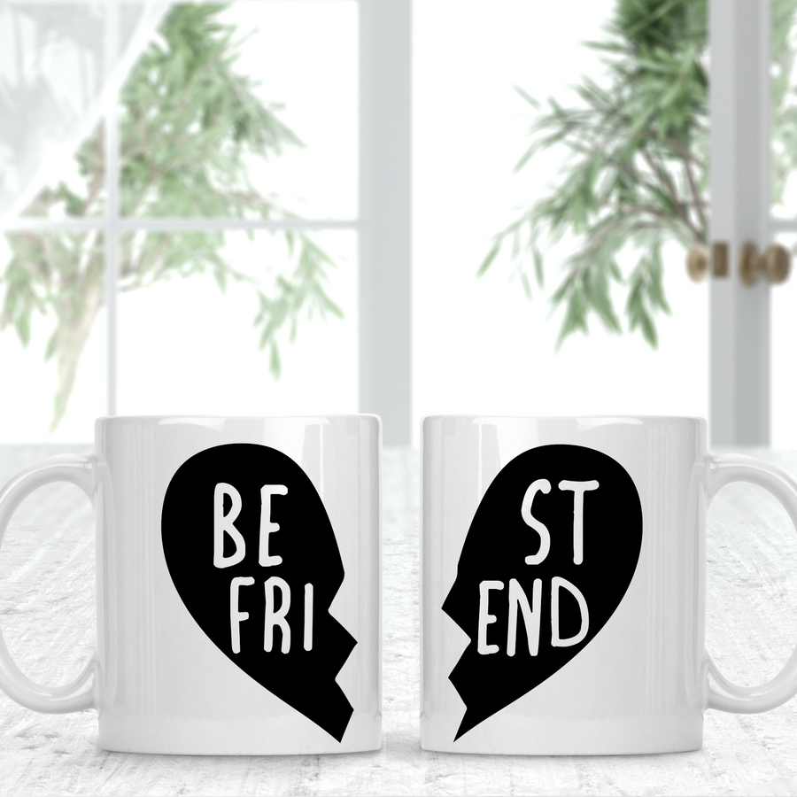 Best Friend Sister Two Matching Mugs