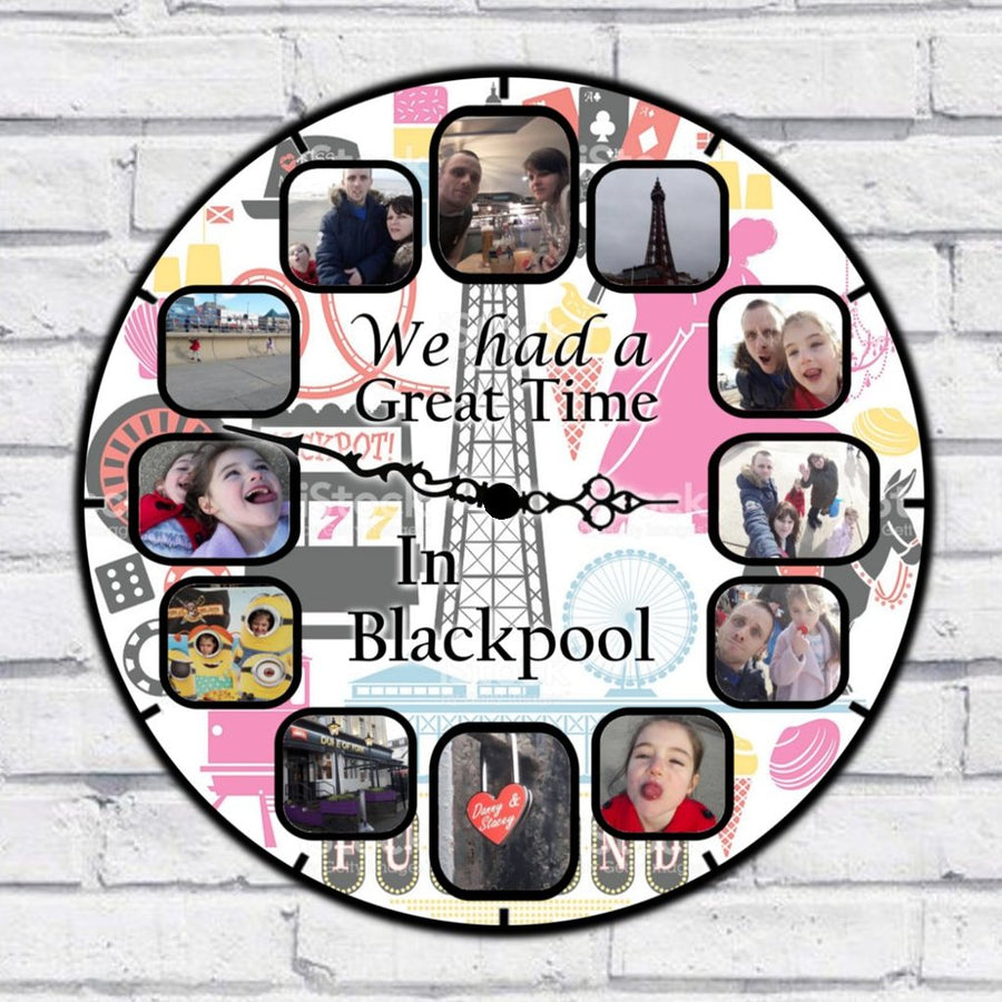 Personalised We Had A Great Time In Blackpool Clock