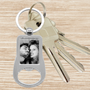 Personalised Photo Keyring - Bottle Opener