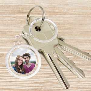 Personalised Photo Keyring - Circle