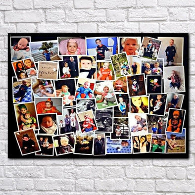 Personalised Scattered Photo Collage Canvas