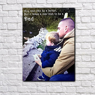 Personalised Dad/Father Photo Canvas - Fathers Day Gift