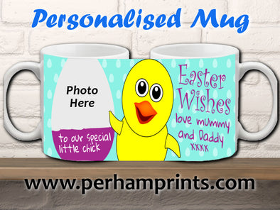Personalised Photo Easter Cup - To Your Special Little Chick