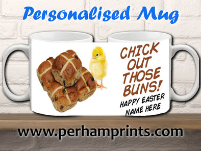 Easter Cup/Mug - Chick Out Those Buns!