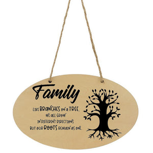 Family Like Branches On A Tree Plaque