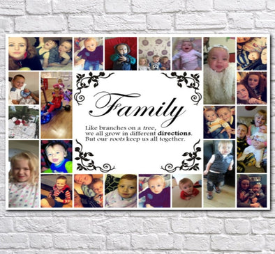 Personalised Family Collage Canvas