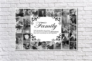 Personalised Family Photo Collage Canvas