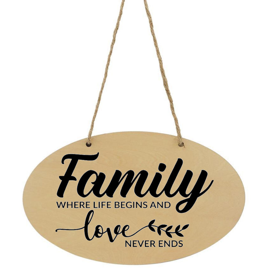 Family Where Life Begins And love Never Ends Plaque