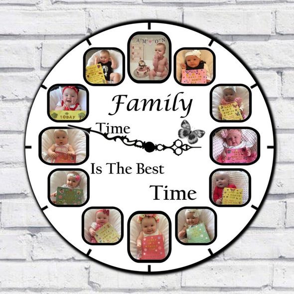 Personalised Family Clock - Family Time Is The Best Time