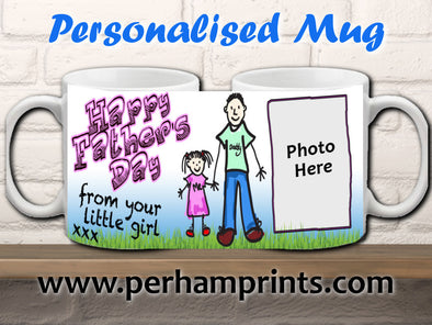 Father's Day Gift from Daughter - Personalised Mug