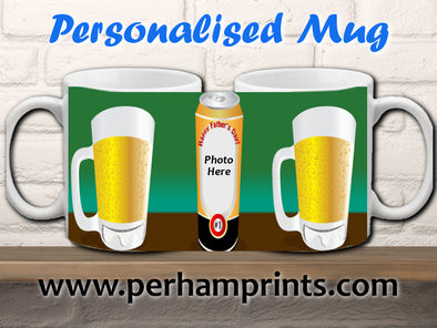 Personalised Beer Photo Cup - Father's Day Gift