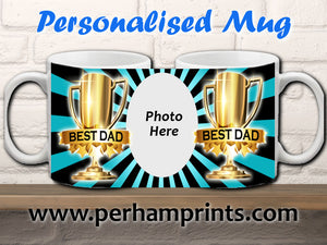 World's Best Dad Award - Personalised Photo Cup