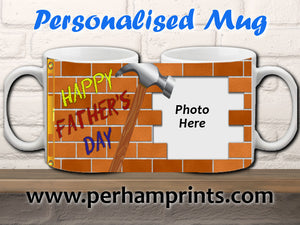 Personalised Builder/DIY Father's Day Cup