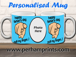 Personalised Happy Farter's Day - Personalised Mug