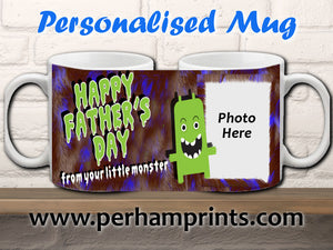 Father's Day Gift - From Your Little Monster - Personalised Mug