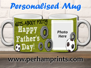 Father's Day Gift - Football Fan - Personalised Mug