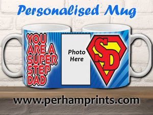 Super Step Dad - Father's Day Gift - Personalised Mug