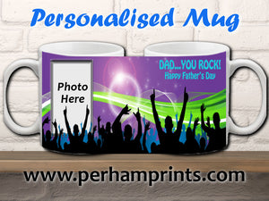 Personalised Rock 'n Roll Father's Day Gift - Personalised Mug
