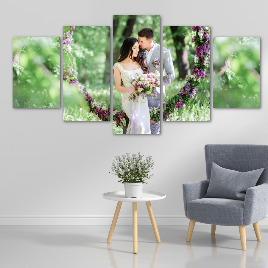 Five Panel Custom Photo Canvas