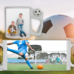 Personalised Football Handle Photo Picture Cup Mug