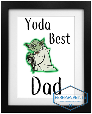 Yo-Da Best Dad Personalised Frame Design