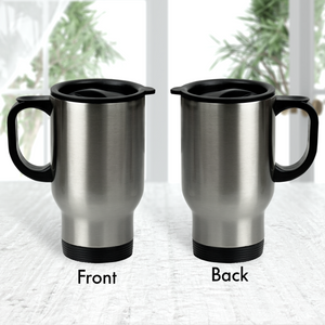 15oz Thermal Brushed Steel Travel Mug
